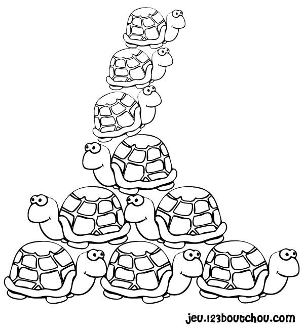 Dessin colorier tortue hugo l 39 escargot - Tortue a colorier ...