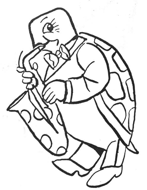 dessin tortue d eau a imprimer