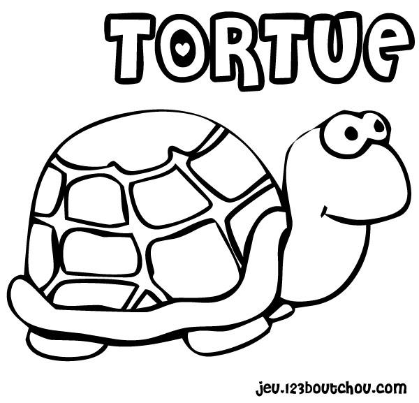 coloriage à dessiner lièvre et tortue