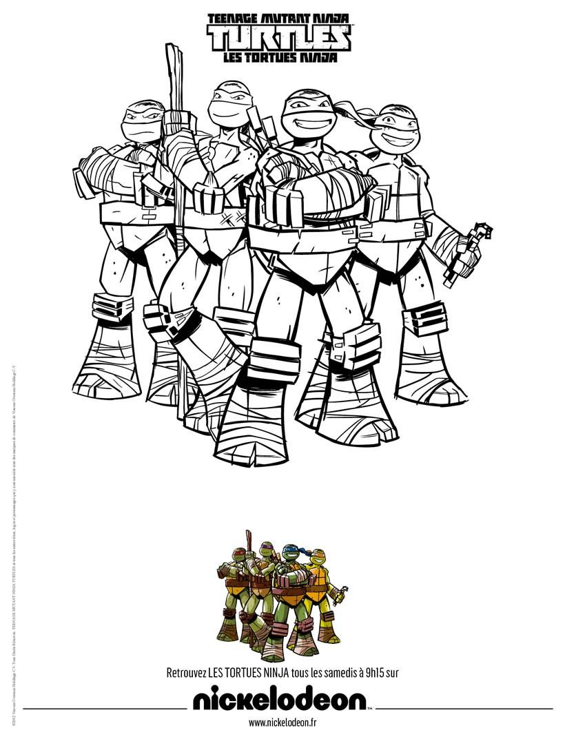 dessin à colorier tortue ninja lego