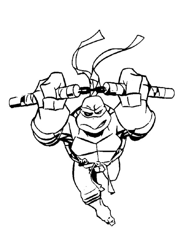 41 dessins de coloriage tortues ninja imprimer - Dessin anime des tortues ninja ...