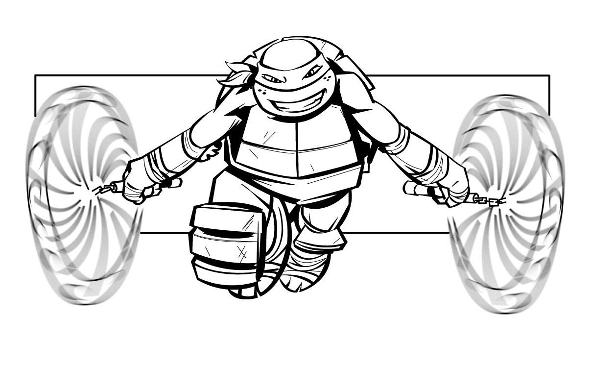 jeux de dessin à colorier tortues ninja