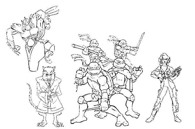 39 dessins de coloriage tortues ninja imprimer - Rat tortues ninja ...