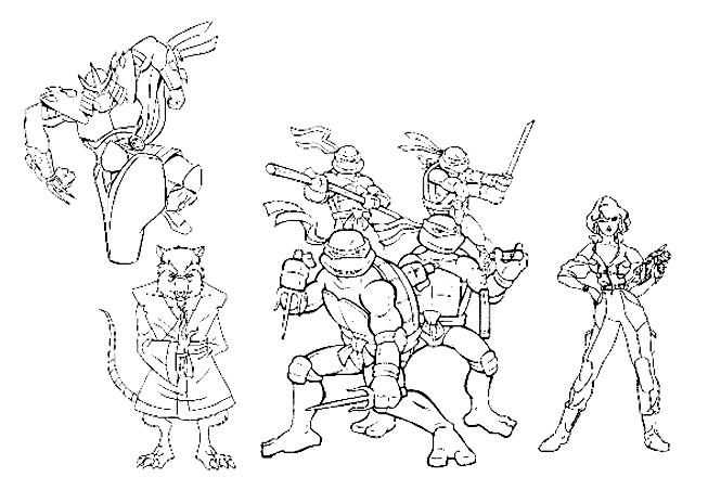 dessin a imprimer de tortues ninja