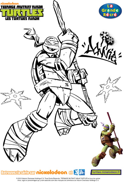 coloriage 4 tortues ninja