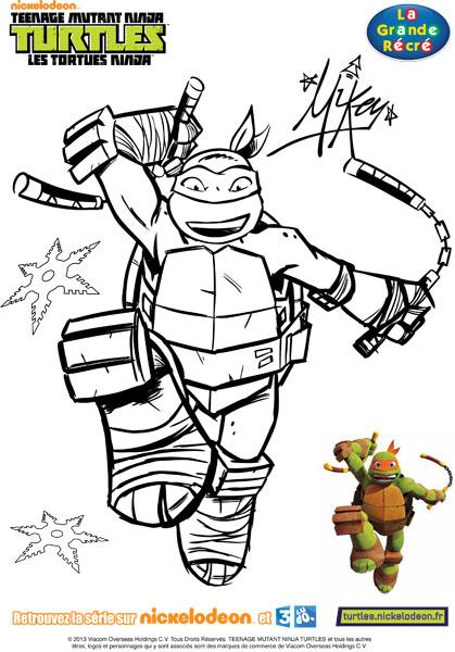 coloriage tortue ninja tfou