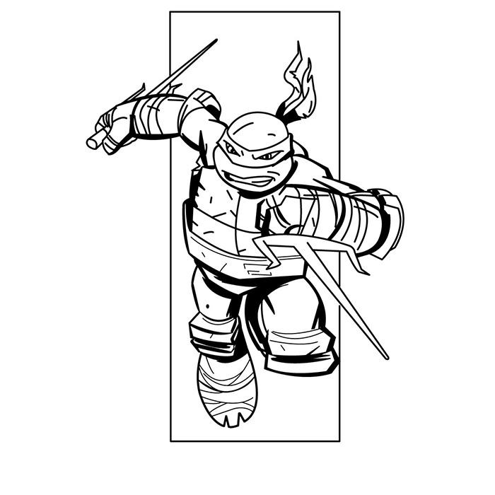 coloriage à dessiner tortues ninja à imprimer