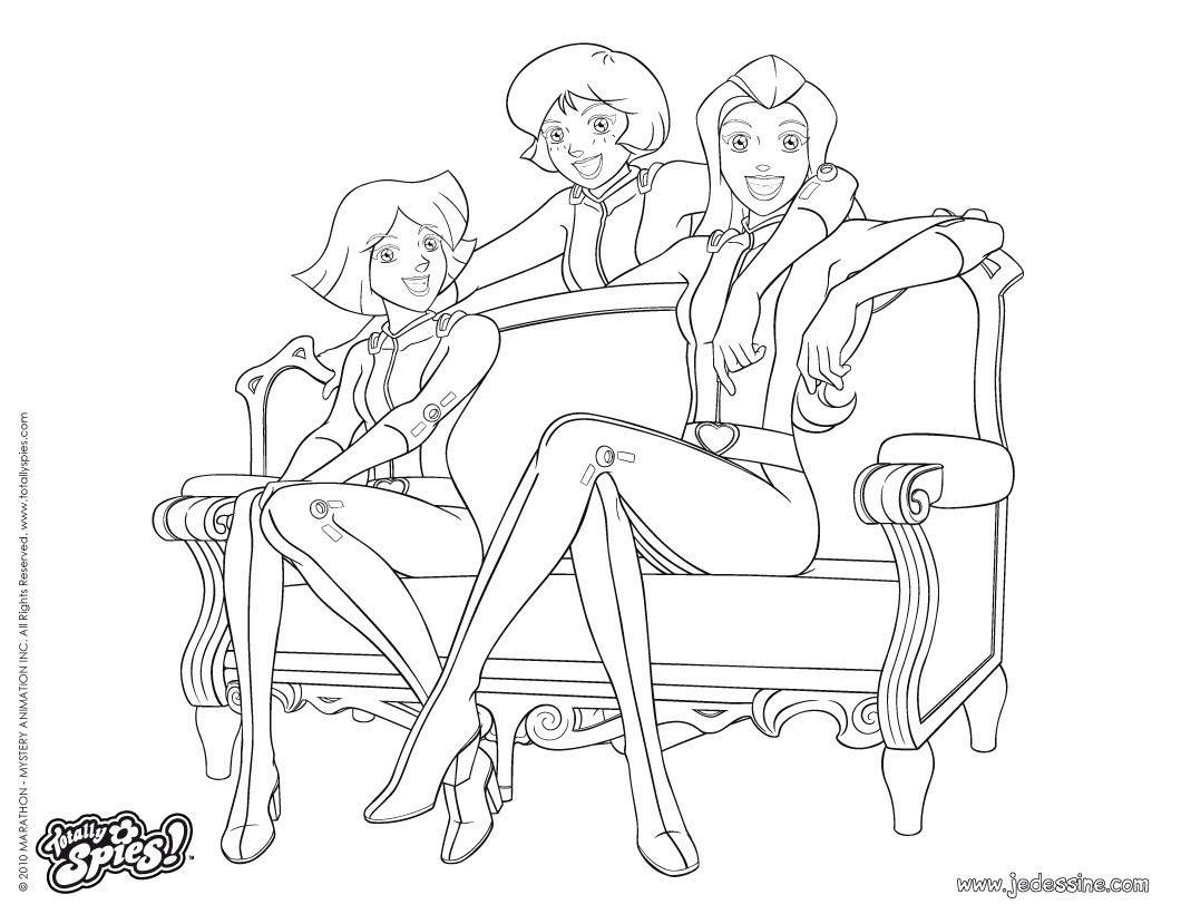 coloriage � dessiner totally spies avec britney