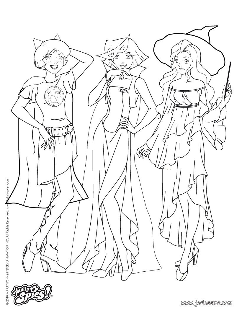 coloriage de totally spies a colorier gratuit