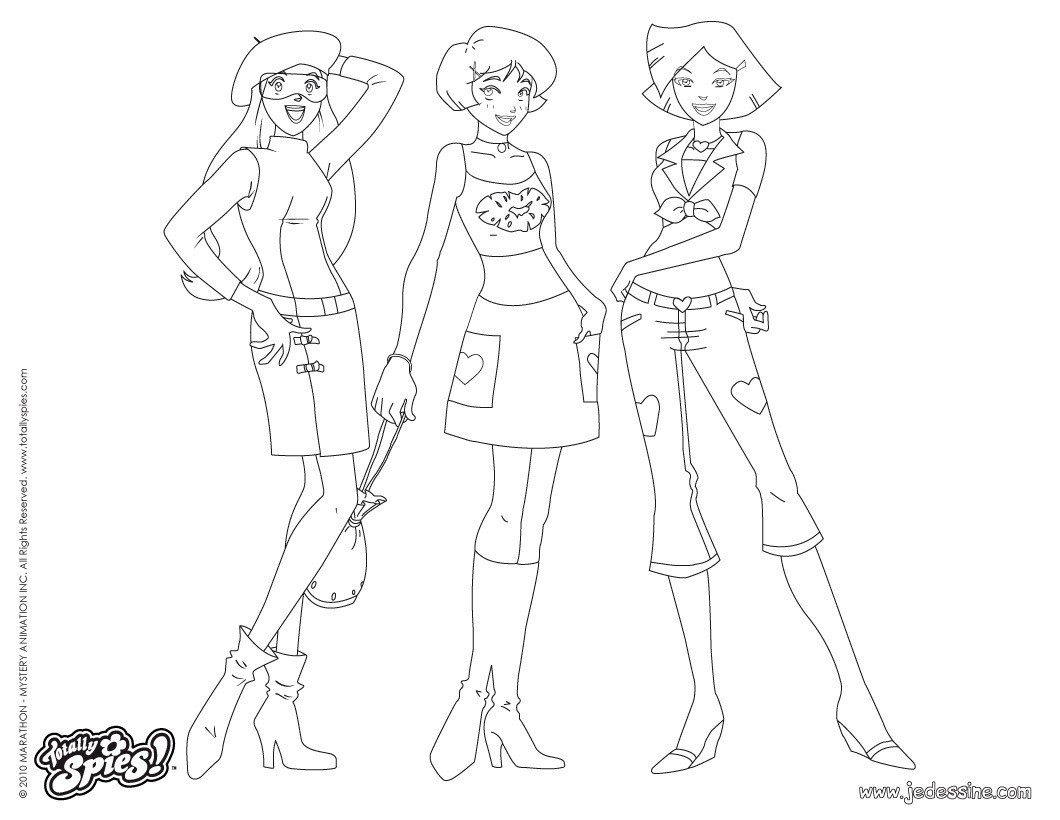 coloriage à dessiner magique de totally spies
