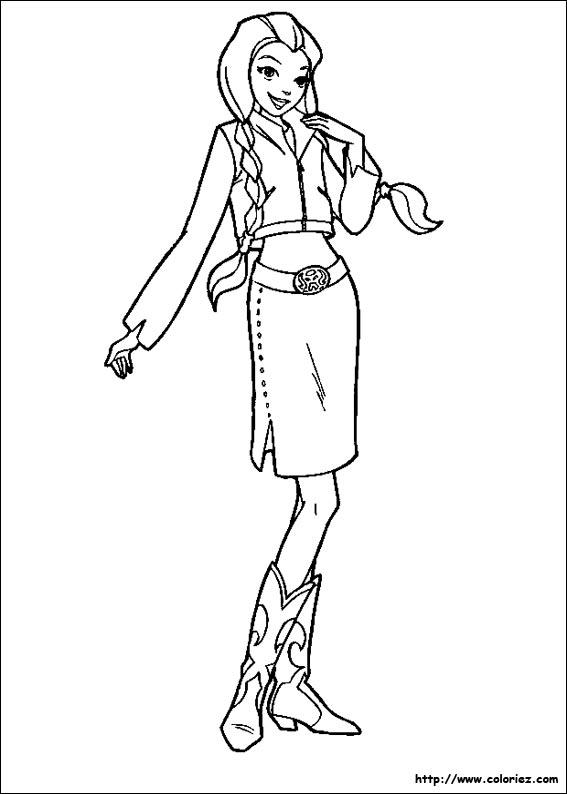 dessin totally spies imprimer