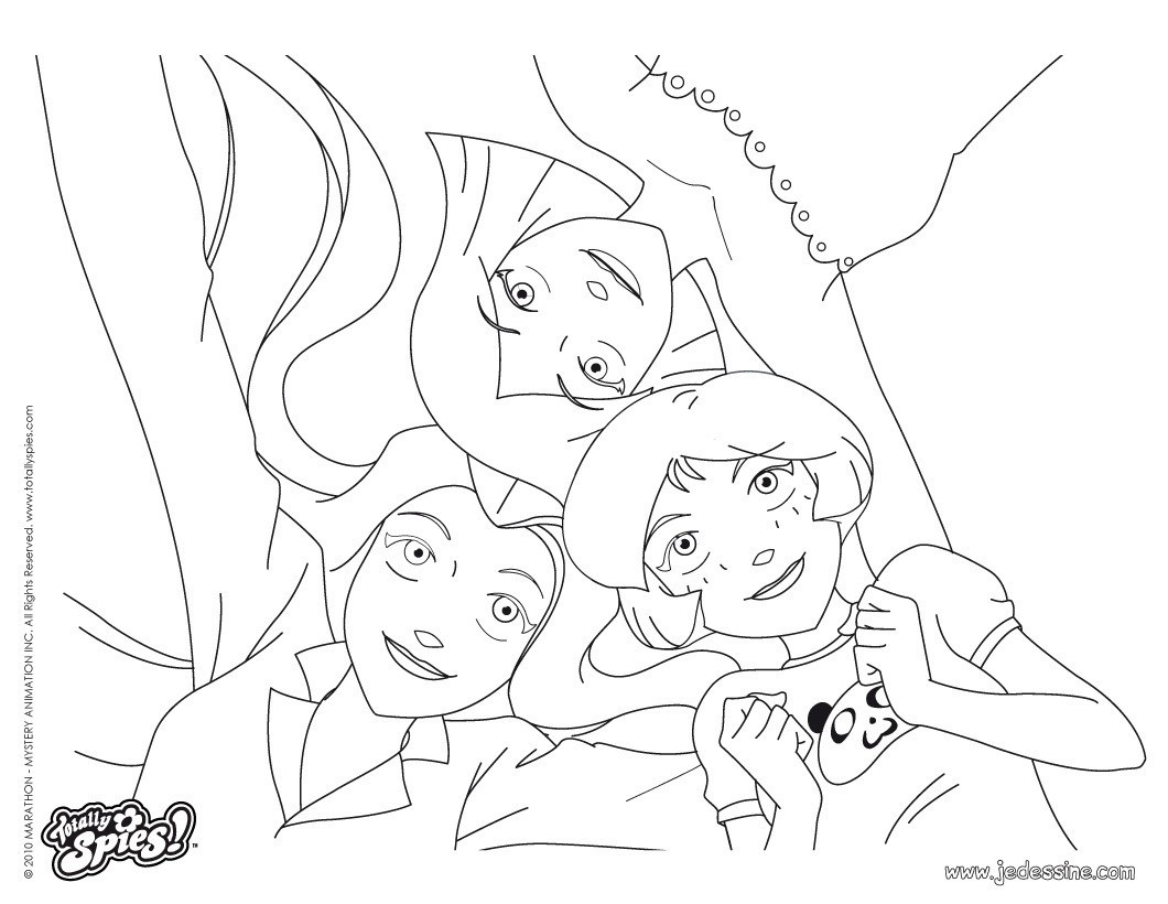 Coloriage En Ligne Totally Spies.Coloriage A Dessiner Totally Spies En Ligne Gratuit