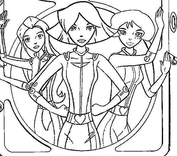 dessin à colorier magique de totally spies