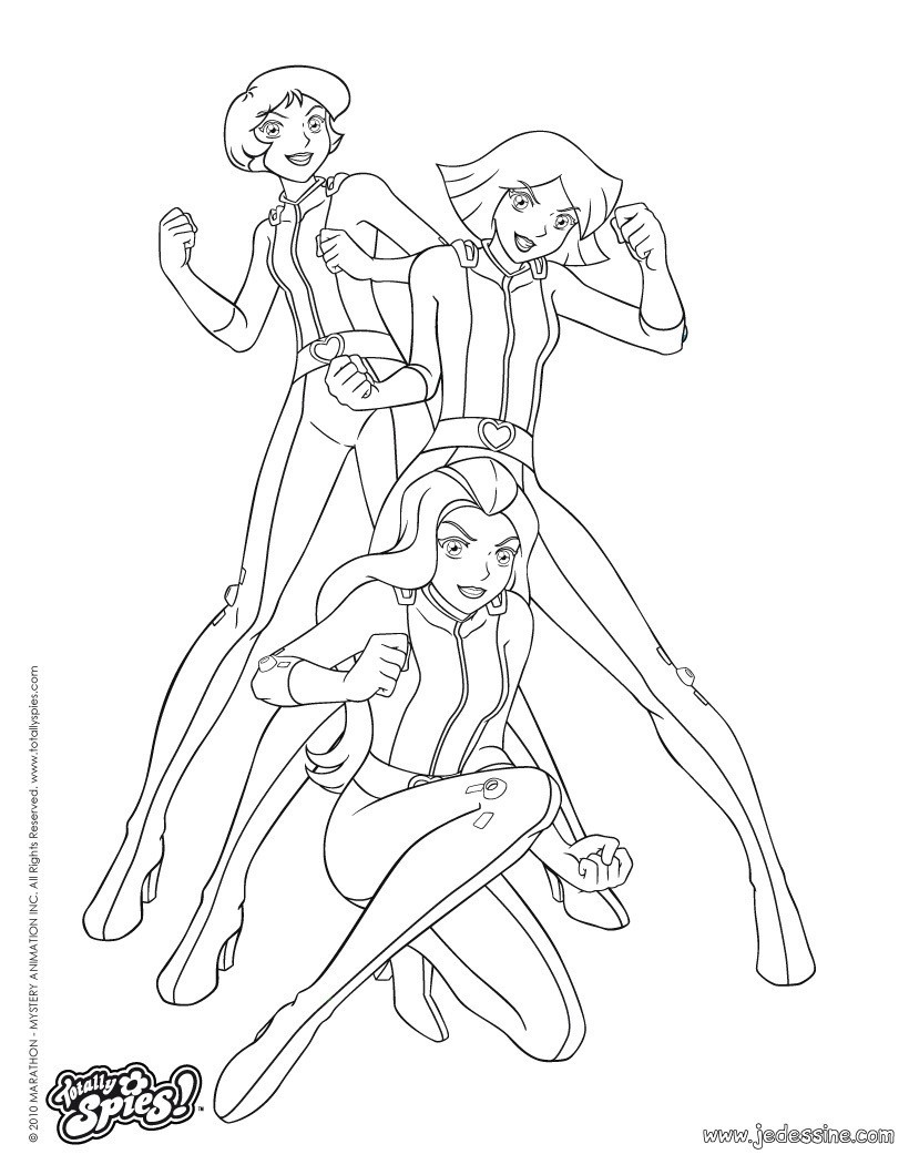 40 dessins de coloriage totally spies imprimer - Totally spies coloriage ...