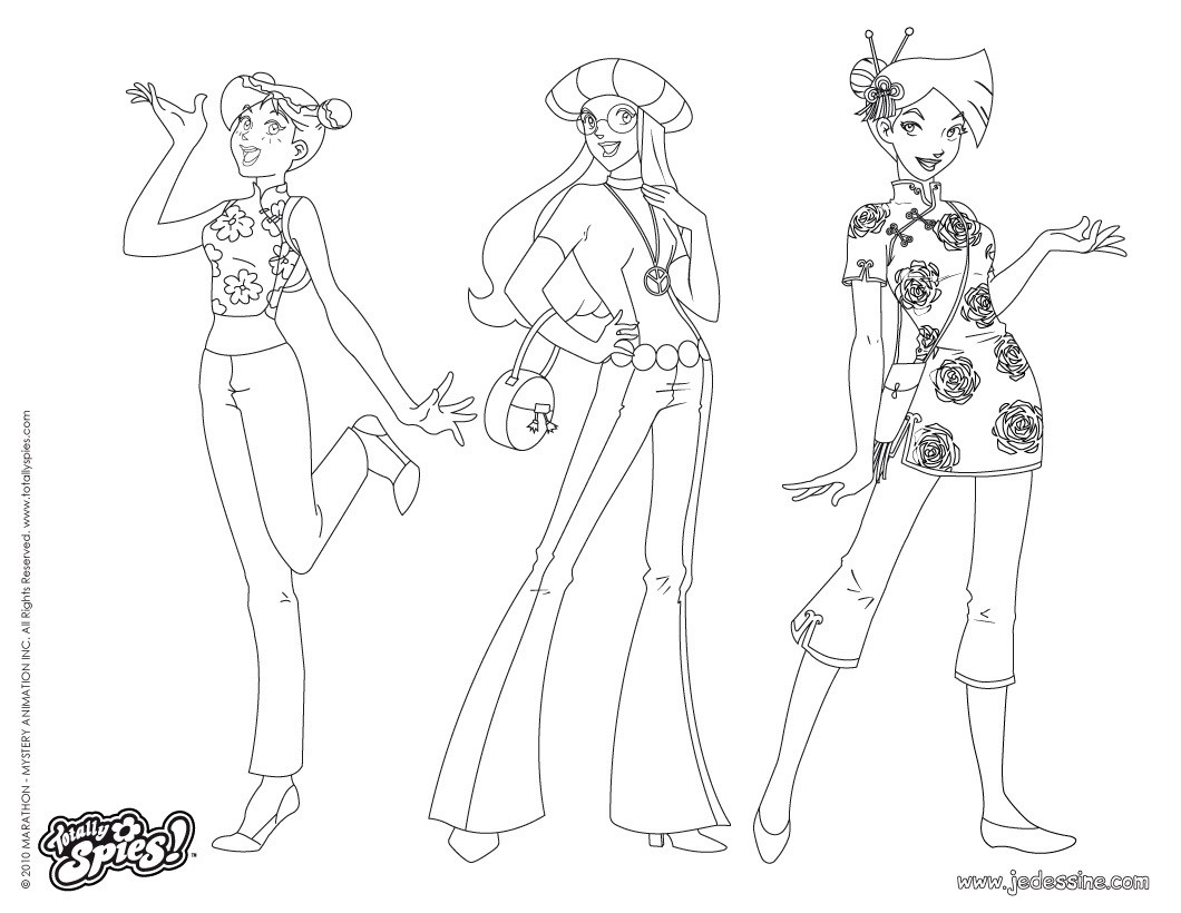 Coloriage A Imprimer Totally Spies.Dessin A Colorier Totally Spies Sam Alex Clover