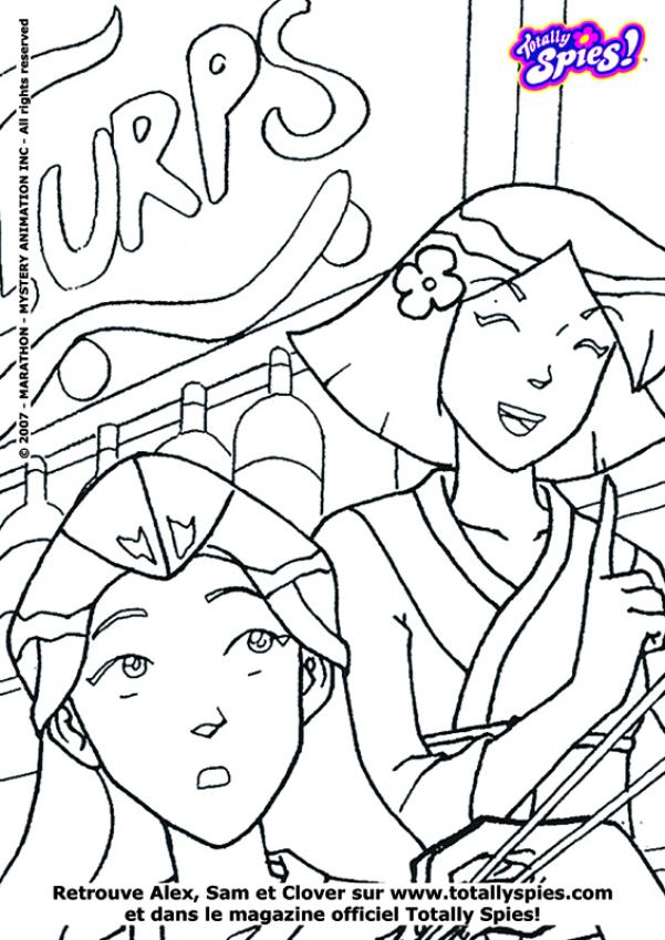 totally spies en coloriage