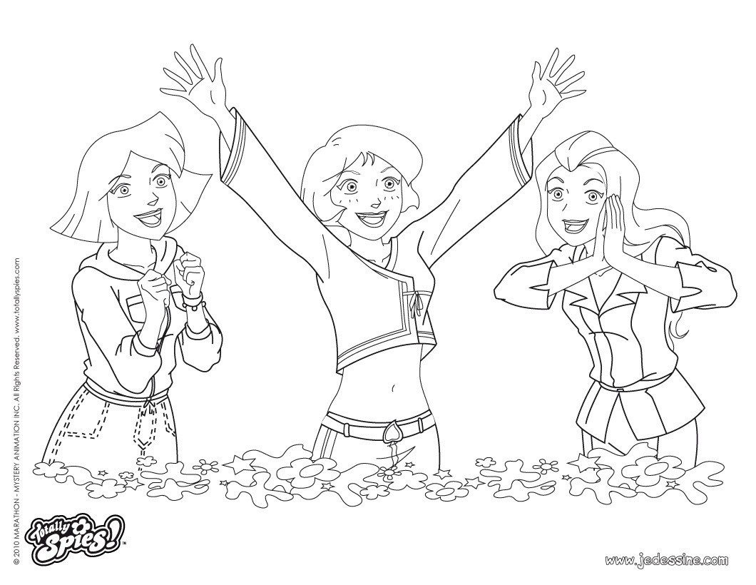 Dessin de totally spies a colorier gratuit - Totally spies coloriage ...