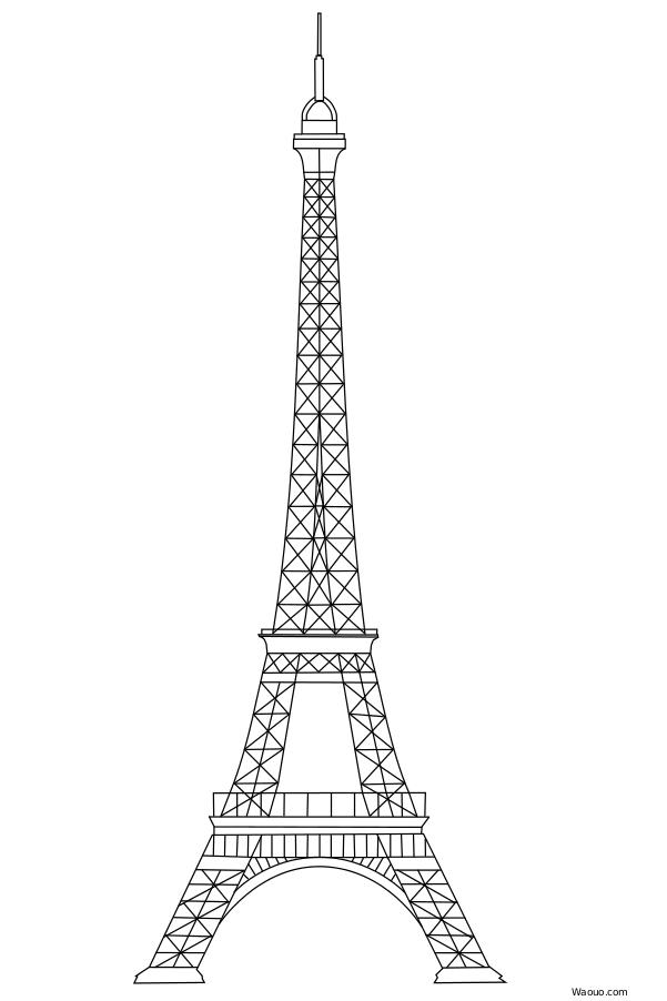 Tour eiffel dessin arts et voyages - Dessin tour eiffel a imprimer ...