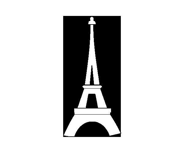 dessin tour eiffel noir et blanc