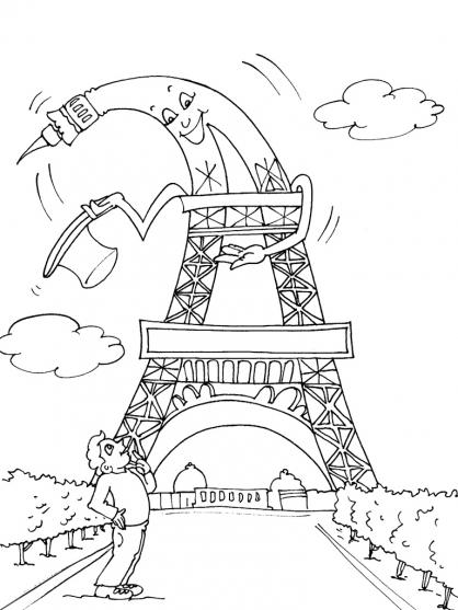 dessin la tour eiffel