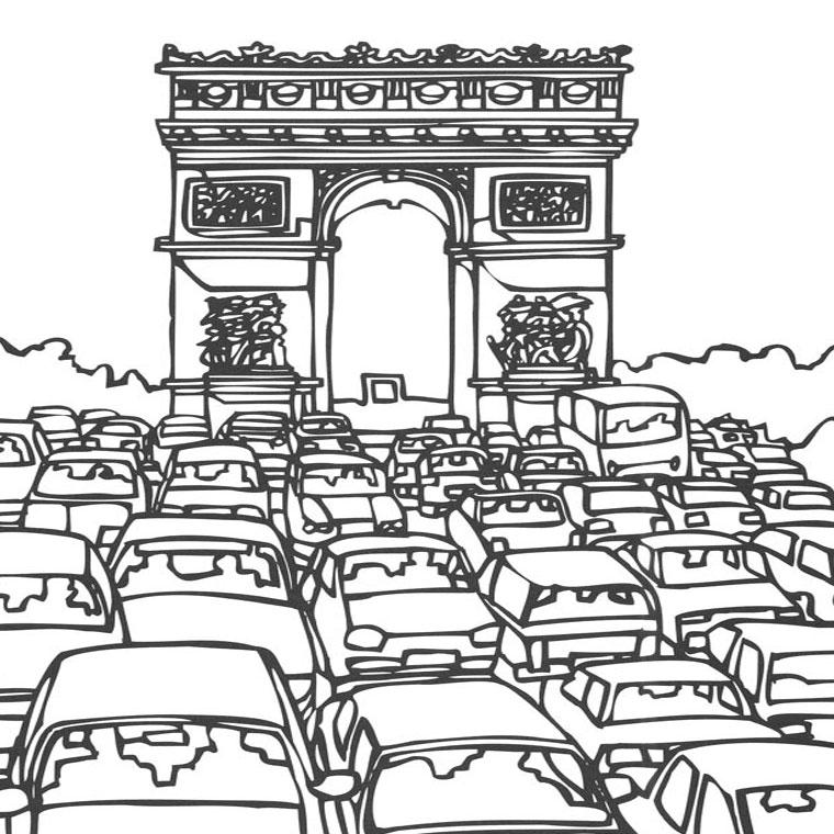 41 Dessins De Coloriage Tour Eiffel à Imprimer