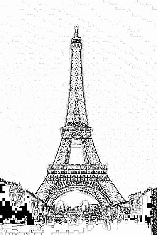 36 dessins de coloriage tour eiffel à imprimer