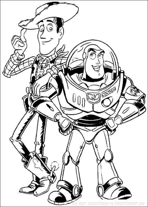 coloriage à dessiner zigzag toy story