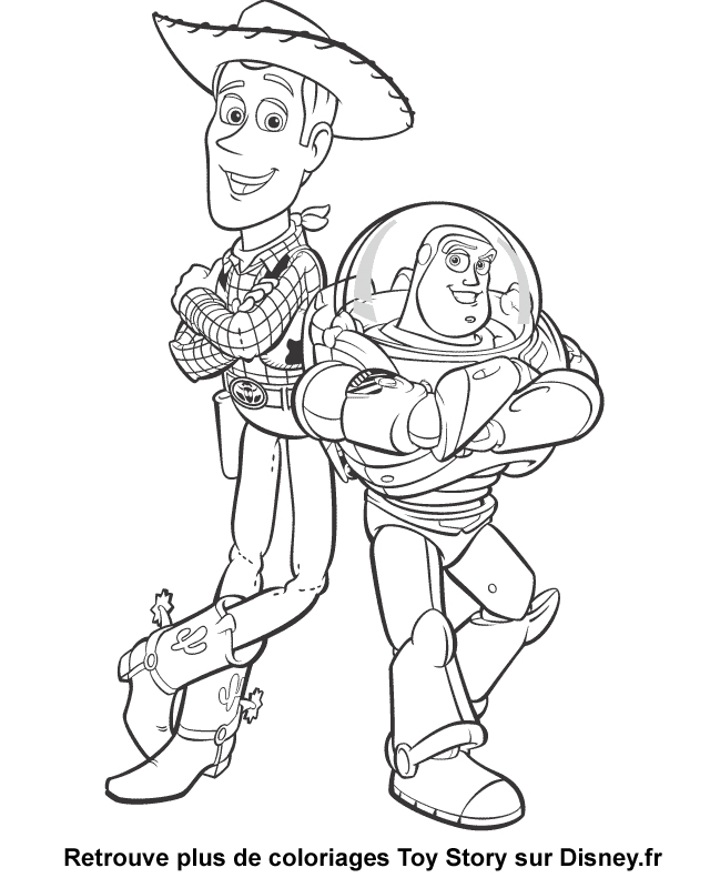 coloriage à dessiner toy story 3