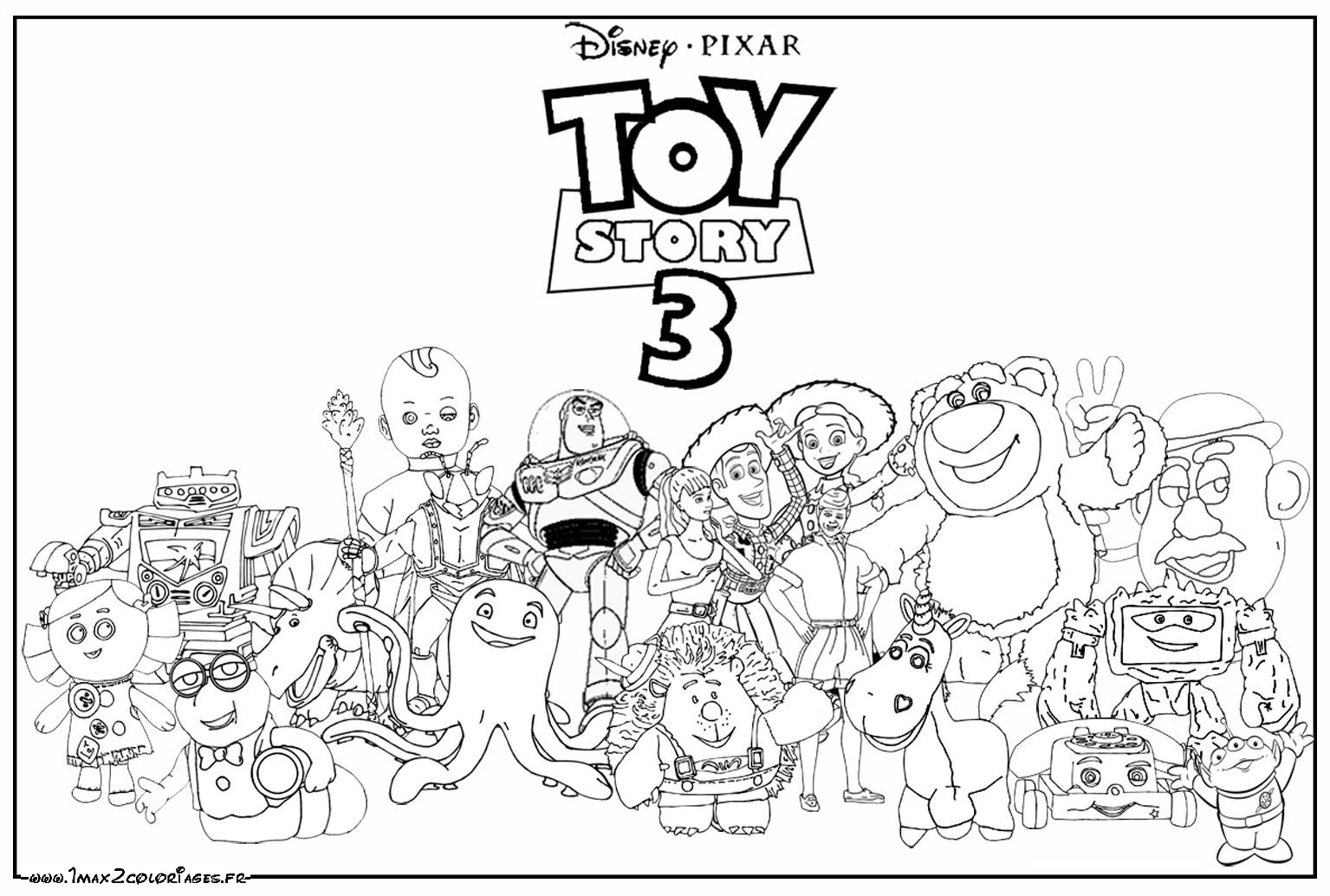 coloriage toy stories a imprimer