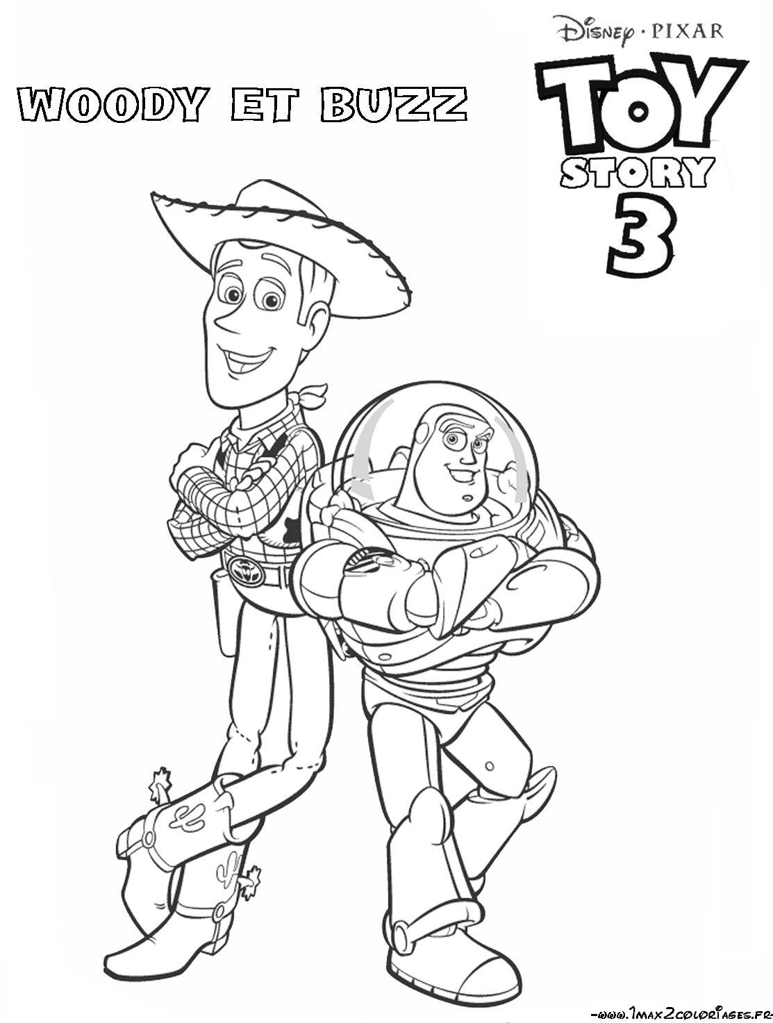 Coloriage toy story 3 imprimer - Buzz a colorier ...