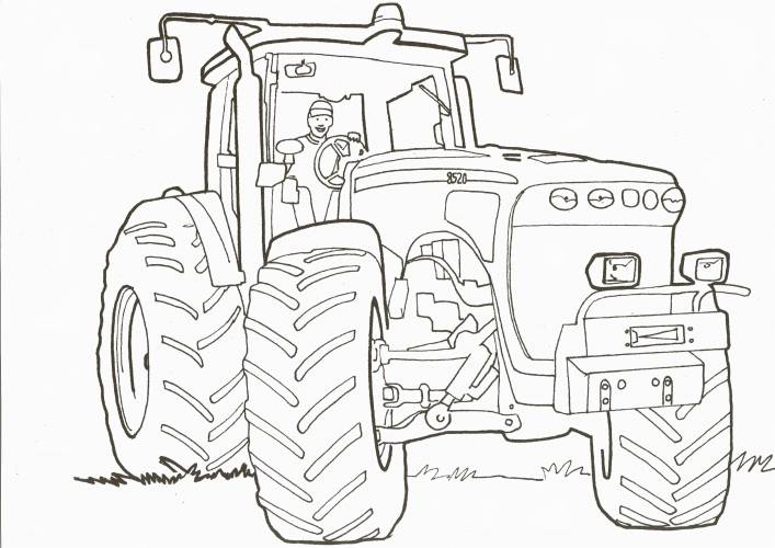 coloriage tracteur tom a imprimer