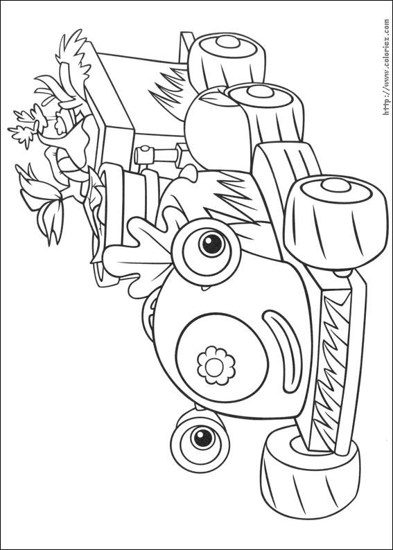 coloriage tracteur tondeuse