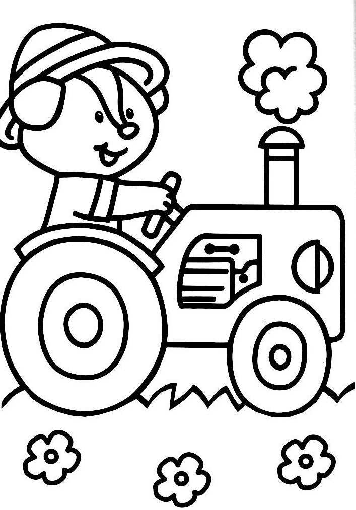 Coloriage a imprimer tracteur fourche - Tracteur a colorier ...