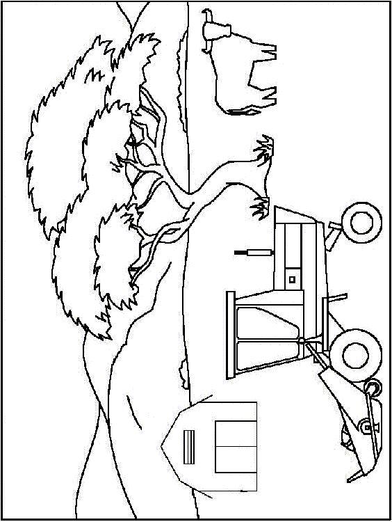 Coloriage dessiner tracteur new holland - Dessin moissonneuse ...