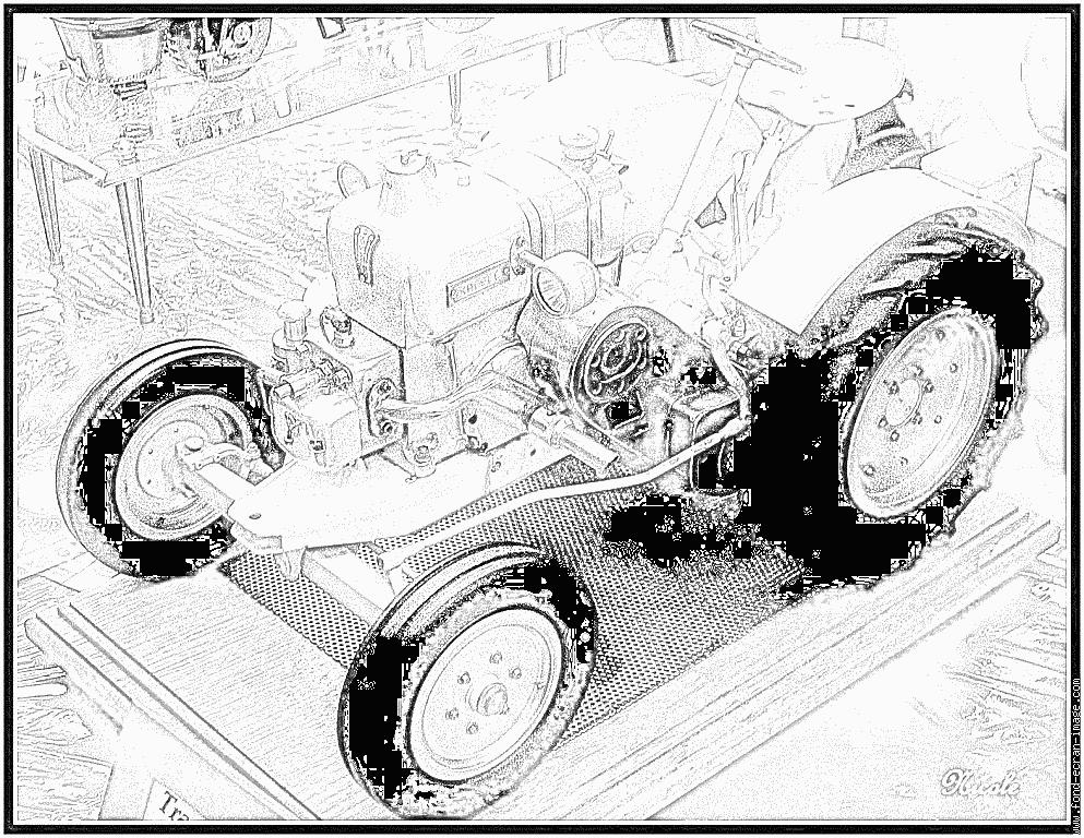 coloriage � dessiner tracteur a pedale