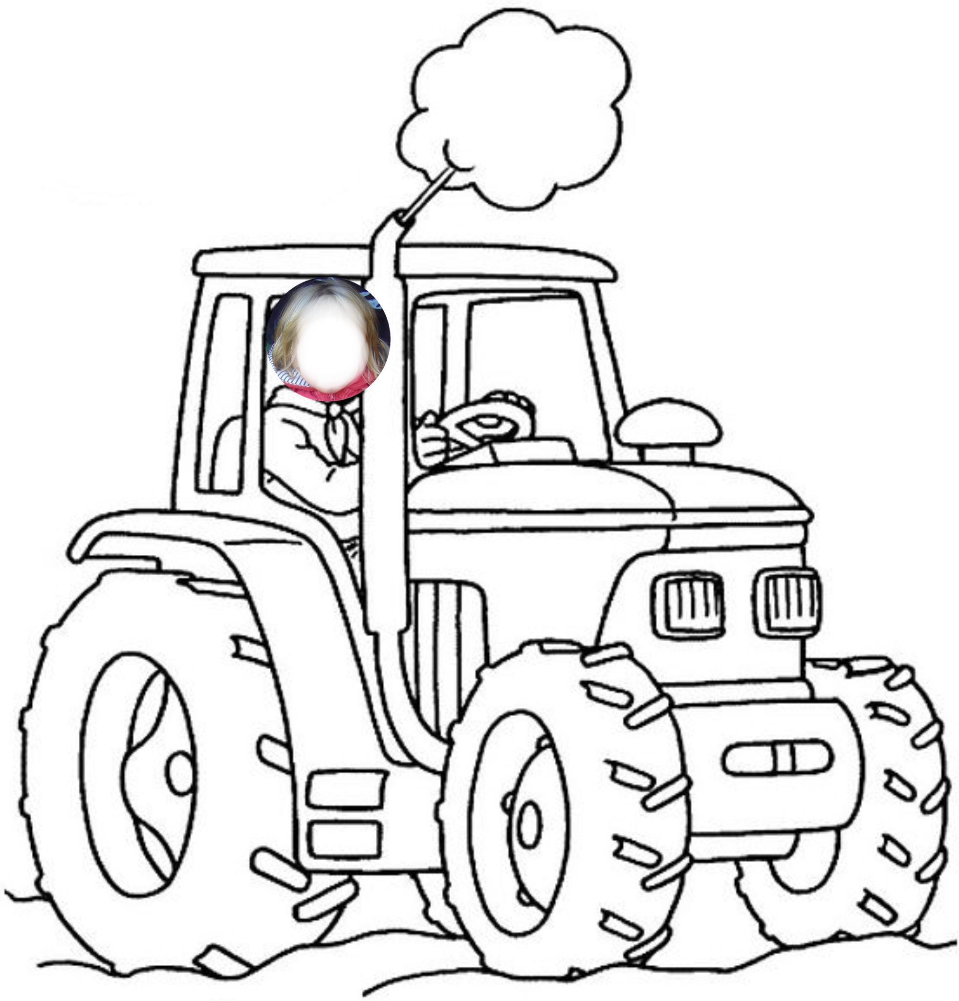 Élégant Dessin à Imprimer Gratuit Tracteur