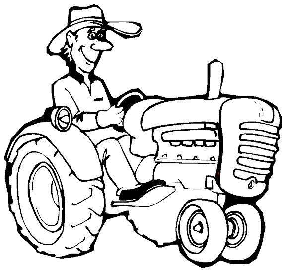 Coloriage imprimer tracteur tondeuse - Tracteur a colorier ...