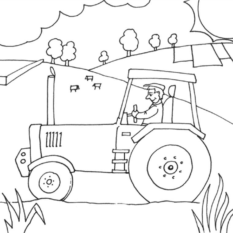 coloriage à dessiner de tracteur claas