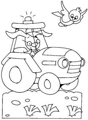 coloriage à dessiner tracteur à colorier