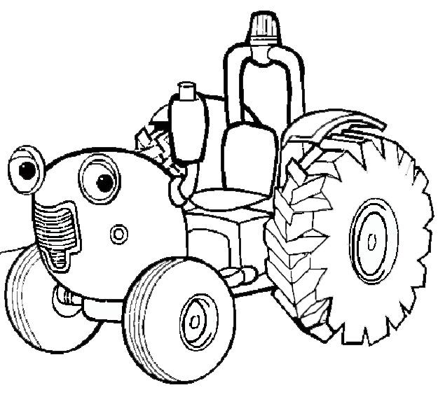 Coloriage de tracteur avec une benne - Le tracteur tom ...