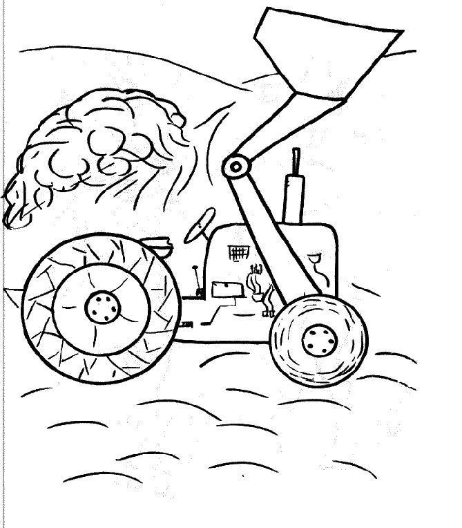 dessin tracteur charrue