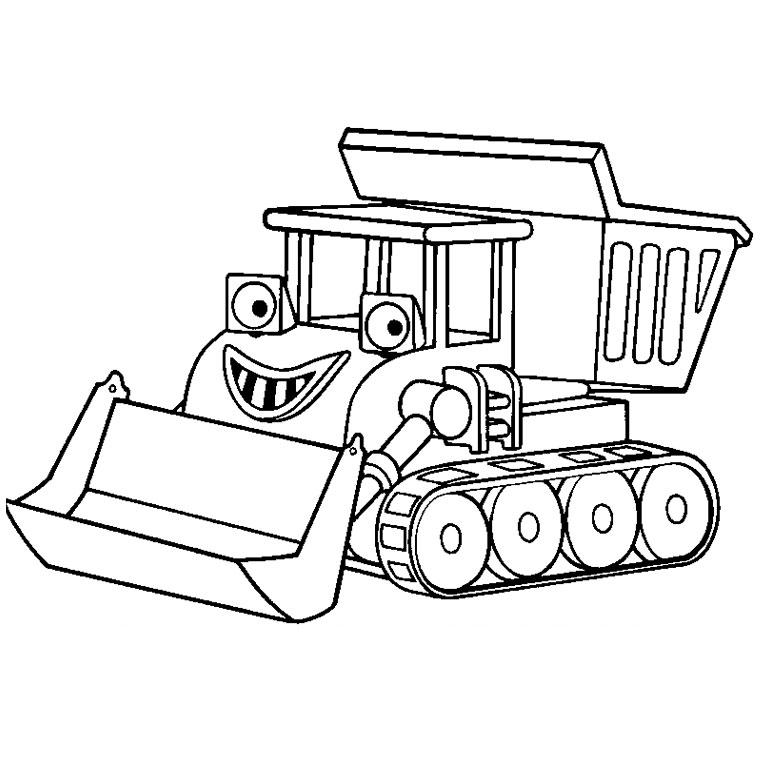 coloriage tracteur à la ferme