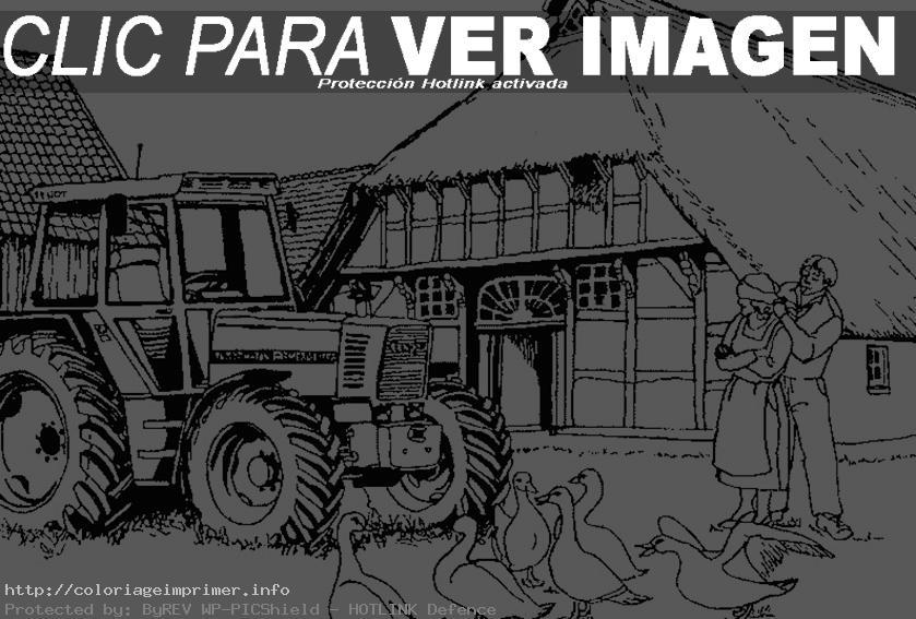 coloriage à dessiner tracteur claas