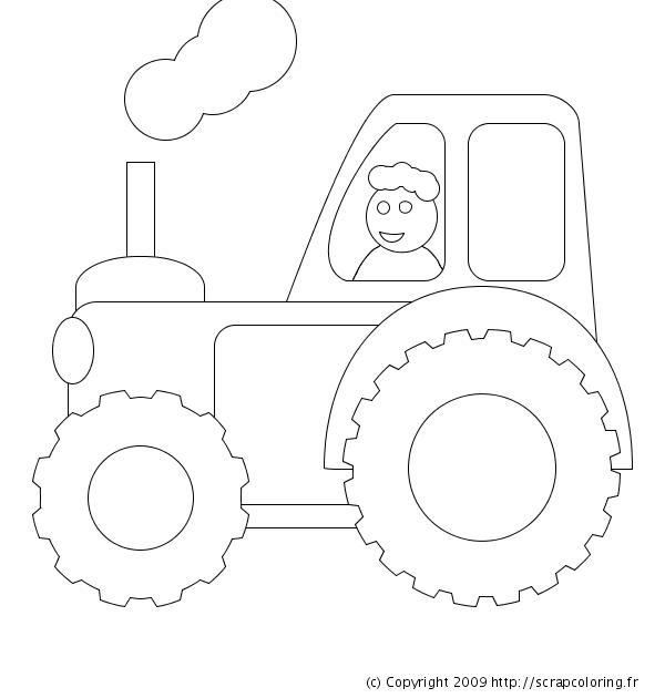 dessin à colorier tracteur à colorier