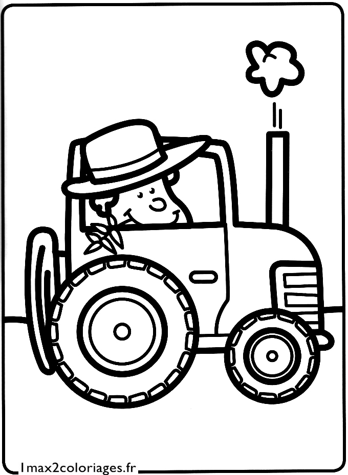 Dessin tracteur agricole - Dessin a imprimer de tracteur ...