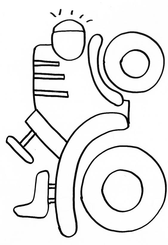 coloriage à dessiner tracteur benne