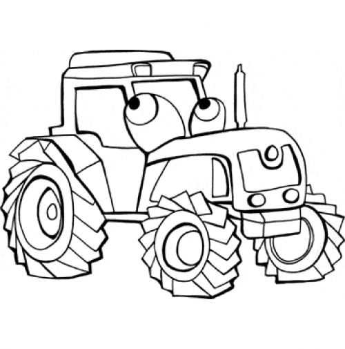 Coloriage Hugo Lescargot Tracteur.Dessin A Colorier Tracteur Hugo L Escargot