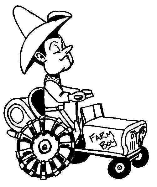 dessin un tracteur