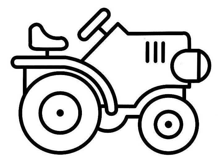 coloriage à dessiner tv tracteur