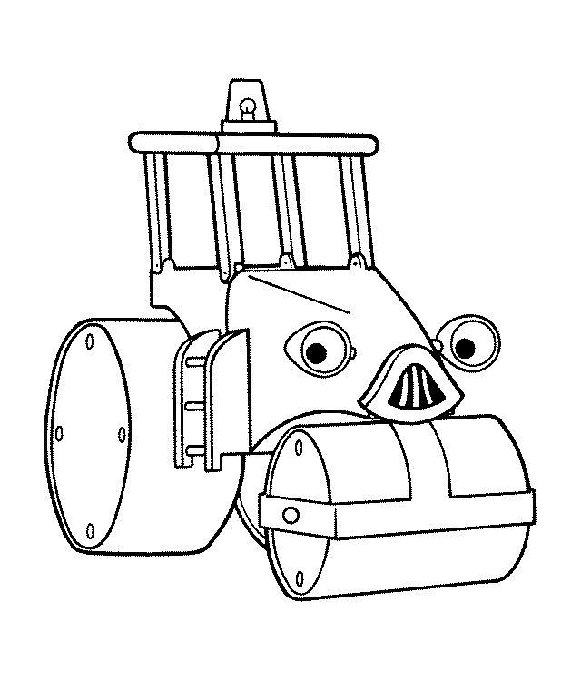 dessin à colorier tracteur 2 ans